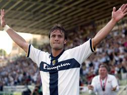 Alberto Gilardino con la maglia del Parma. Ansa