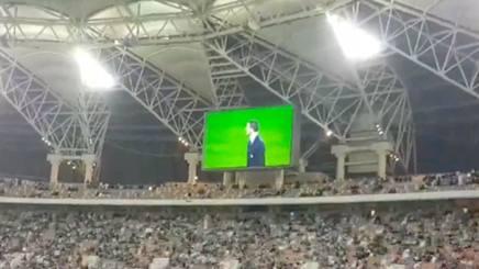 Bonucci sul  maxi-schermo di Gedda