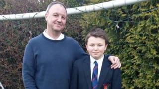 Ross Donaghey e il figlio Max, 12enne scozzese tifoso dell'Inter