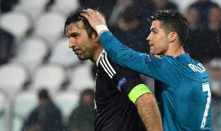Gianluigi Buffon, Cristiano Ronaldo. AFP