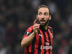 Gonzalo Higuain, 31 anni, argentino. In estate ha lasciato la Juve per approdare in prestito al Milan. AFP