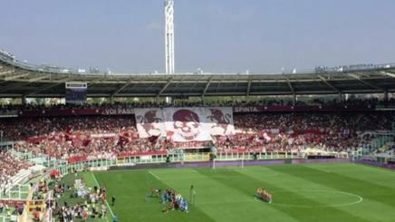 Lo Stadio Olimpico prima del via di Torino-Fiorentina