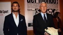Marcello Lippi con il figlio Davide. Lapresse
