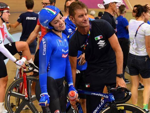 Letizia Paternoster, 19 anni, con il c.t. Dino Salvoldi. Bettini