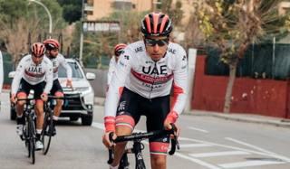 Fabio Aru, 28 anni, durante un  allenamento