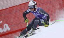 La norvegese Ragnhild Mowinkel, 26 anni, impegnata nella prova di discesa a Cortina AP