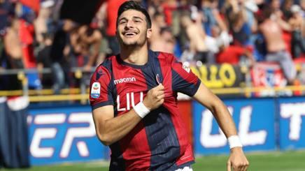 Riccardo Orsolini, 21 anni, attaccante del Bologna in prestito dalla Juve. Ansa