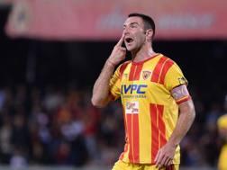 Fabio Lucioni, 31 anni, difensore centrale, alla prima stagione con la maglia del Lecce. Lapresse