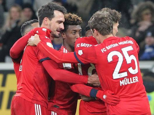 Il Bayern festeggia la vittoria. Afp