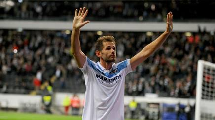 Senad Lulic, 33 anni, centrocampista bosniaco. Capitano della Lazio, veste la maglia biancoceleste dal 2011. Getty
