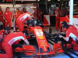 La Ferrari SF71H di Vettel del 2018. LaPresse