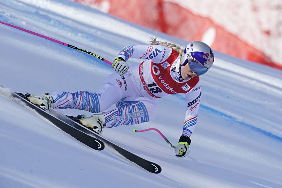 Lindsey Vonn, 34 anni, al rientro dopo l'infortunio insegue il record di vittorie in Coppa di Ingemar Stenmark (86). Getty Images