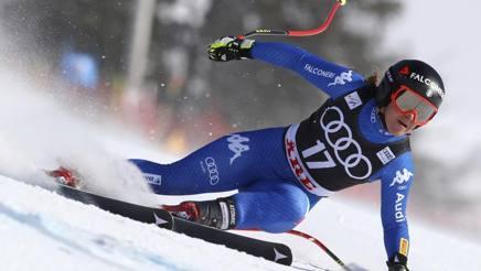 La bergamasca Sofia Goggia, oro olimpico in discesa. Ap