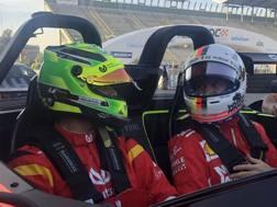 Mick Schumacher con Sebastian Vettel in Messico