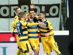 L'esultanza del Parma
