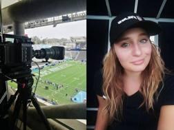 Nausicaa Dell'Orto, 25 anni, racconta l'Nfl da dietro una telecamera per la lega football Usa.