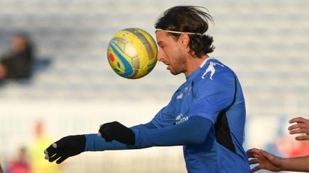 Daniele Cacia, 35 anni, attaccante del Novara. LAPRESSE