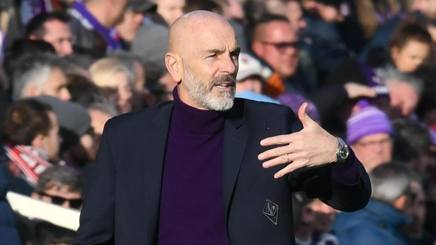 Stefano Pioli, tecnico della Fiorentina. Ansa