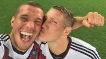 Lukas Podolski e Bastian Schweinsteiger, ex compagni della nazionale tedesca