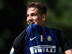 Nicolò Zaniolo con la maglia dell'Inter. Getty