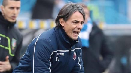 Filippo Inzaghi, tecnico del Bologna. Ansa