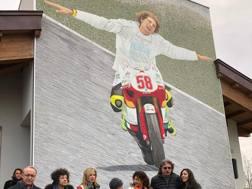 Il mosaico con Marco Simoncelli sulla Casa di recupero per disabili inaugurata