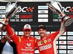 Mick Schumacher, 19 anni, campione europeo di F.3 con Sebastian Vettel, 31 anni, 4 volte campione del mondo di F.1