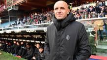 Il vice allenatore del Milan Luigi Riccio, 41 anni, in sostituzione dello squalificato Rino Gattuso. Ansa