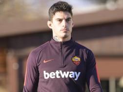 Diego Perotti, esterno offensivo della Roma. Lapresse