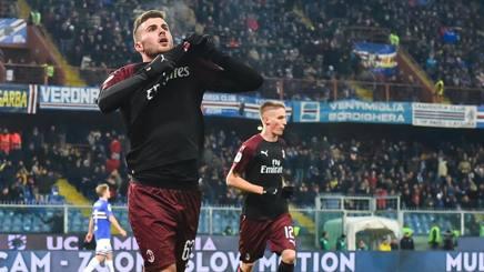 L'attaccante del Milan Patrick Cutrone, 21 anni. Ansa