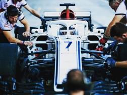 La Sauber già col numero 7 di Kimi Raikkonen durante i test di novembre  ad Abu Dhabi