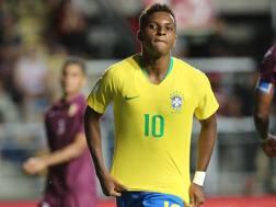Rodrygo, talento del Brasile Under 20. Afp