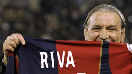 Gigi Riva, 74 anni, simbolo del calcio italiano. Afp
