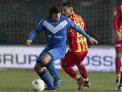 Sandro Tonali, 18 anni, in azione con la maglia del Brescia. Lapresse