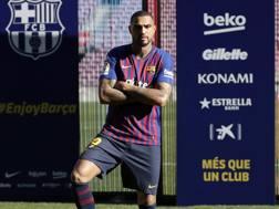 Le prime foto di Boateng al Camp Nou con la maglia del Barcellona, Getty