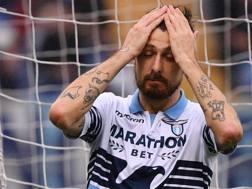 Francesco Acerbi, difensore della Lazio. Lapresse