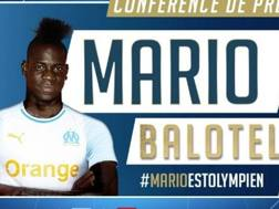 L'annuincio dell'OM dell'acquisto di Mario Balotelli