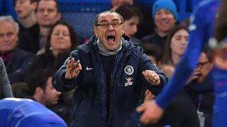 Maurizio Sarri, allenatore del Chelsea. AFP