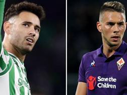 A sinistra Antonio Sanabria, 22 anni, attaccante del Betis; a destra Marko Pjaca, 23 anni, attaccante della Fiorentina, in prestito dalla Juve