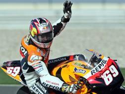 Nicky Hayden ai tempi della Honda. Ap