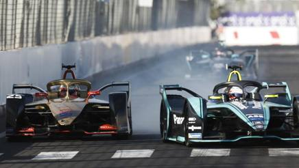 Duello fra Vergne, a sinistra, e Piquet Jr a Marrakech. Getty