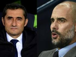 Ernesto Valverde e Pep Guardiola