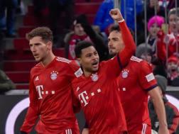 Il Bayern festeggia Goretzka. Afp