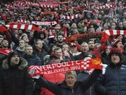 I tifosi del Liverpool nello stadio di Anfield. AP
