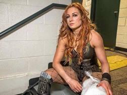 Becky Lynch dopo aver vinto la Royal Rumble