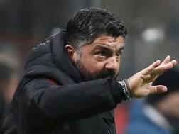 Gennaro Gattuso, 41 anni, allenatore del Milan. Ap