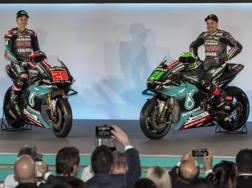 Da sinistra Fabio Quartararo e Franco Morbidelli. Epa