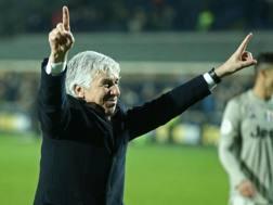 Gian Piero Gasperini, allenatore dell'Atalanta. Ansa