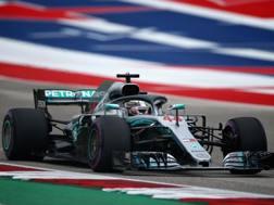 La Mercedes W09 di Hamilton. Afp