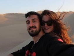 Davide Astori con la fidanzata Francesca Fioretti